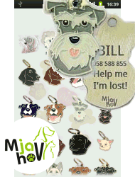 Create and order pet tags with laser engraving texts from your Android phone or tab.