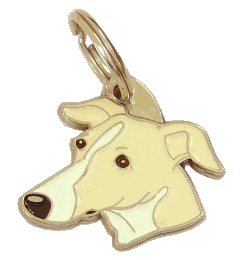 WHIPPET WHITE CREAM - pet ID tag, dog ID tags, pet tags, personalized pet tags MjavHov - engraved pet tags online
