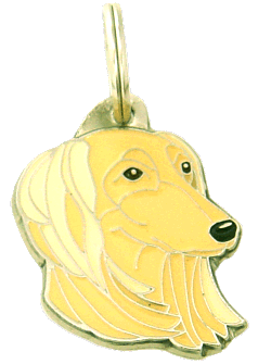 SALUKI CREAM - pet ID tag, dog ID tags, pet tags, personalized pet tags MjavHov - engraved pet tags online