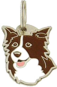 BORDER COLLIE BROWN  - pet ID tag, dog ID tags, pet tags, personalized pet tags MjavHov - engraved pet tags online