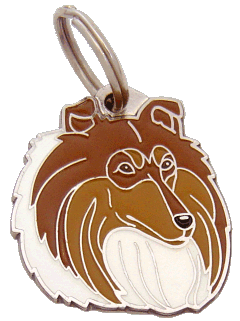 COLLIE SABLE - pet ID tag, dog ID tags, pet tags, personalized pet tags MjavHov - engraved pet tags online