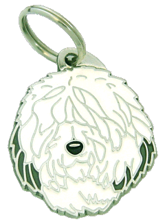 OLD ENGLISH SHEEPDOG - pet ID tag, dog ID tags, pet tags, personalized pet tags MjavHov - engraved pet tags online