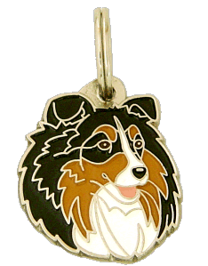 SHETLAND SHEEPDOG TRICOLOR - pet ID tag, dog ID tags, pet tags, personalized pet tags MjavHov - engraved pet tags online