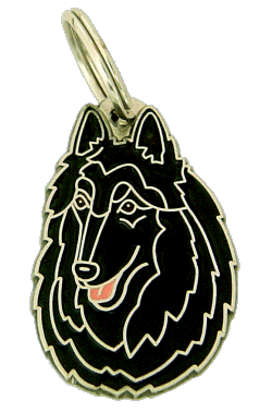 BELGIAN SHEPHERD, GROENENDAEL - pet ID tag, dog ID tags, pet tags, personalized pet tags MjavHov - engraved pet tags online