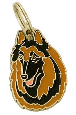 BELGIAN SHEPHERD, TERVUREN - pet ID tag, dog ID tags, pet tags, personalized pet tags MjavHov - engraved pet tags online