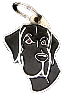 GREAT DANE BLACK - pet ID tag, dog ID tags, pet tags, personalized pet tags MjavHov - engraved pet tags online