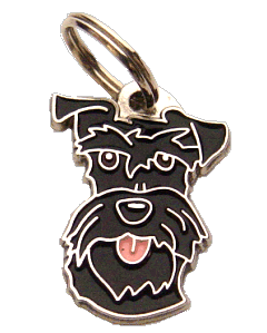 SCHNAUZER BLACK - pet ID tag, dog ID tags, pet tags, personalized pet tags MjavHov - engraved pet tags online