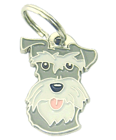 SCHNAUZER PEPPER SALT - pet ID tag, dog ID tags, pet tags, personalized pet tags MjavHov - engraved pet tags online
