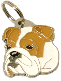 BULLDOG - pet ID tag, dog ID tags, pet tags, personalized pet tags MjavHov - engraved pet tags online