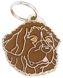 NEWFOUNDLAND BROWN - pet ID tag, dog ID tags, pet tags, personalized pet tags MjavHov - engraved pet tags online