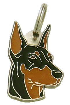 DOBERMAN - pet ID tag, dog ID tags, pet tags, personalized pet tags MjavHov - engraved pet tags online