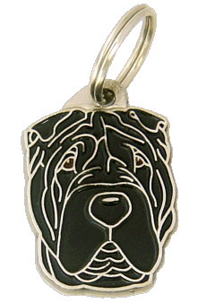 SHAR PEI BLACK - pet ID tag, dog ID tags, pet tags, personalized pet tags MjavHov - engraved pet tags online