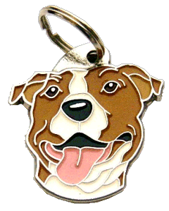 AMERICAN STAFFORDSHIRE TERRIER WH/BR - pet ID tag, dog ID tags, pet tags, personalized pet tags MjavHov - engraved pet tags online