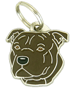 STAFFORDSHIRE BULLTERRIER BRINDLE - pet ID tag, dog ID tags, pet tags, personalized pet tags MjavHov - engraved pet tags online