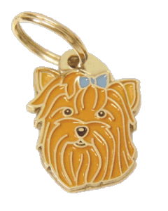 YORKSHIRE TERRIER BLUE - pet ID tag, dog ID tags, pet tags, personalized pet tags MjavHov - engraved pet tags online