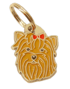 YORKSHIRE TERRIER RED - pet ID tag, dog ID tags, pet tags, personalized pet tags MjavHov - engraved pet tags online