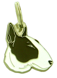 BULL TERRIER WHITE BRINDLE - pet ID tag, dog ID tags, pet tags, personalized pet tags MjavHov - engraved pet tags online