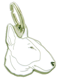 BULL TERRIER WHITE - pet ID tag, dog ID tags, pet tags, personalized pet tags MjavHov - engraved pet tags online