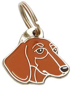 DACHSHUND RED - pet ID tag, dog ID tags, pet tags, personalized pet tags MjavHov - engraved pet tags online