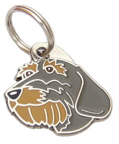 DACHSHUND WIRE-HAIRED - pet ID tag, dog ID tags, pet tags, personalized pet tags MjavHov - engraved pet tags online