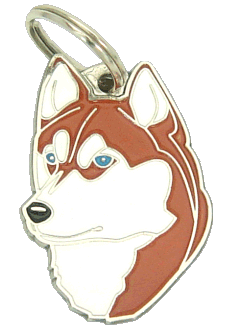 SIBERIAN HUSKY BROWN - pet ID tag, dog ID tags, pet tags, personalized pet tags MjavHov - engraved pet tags online