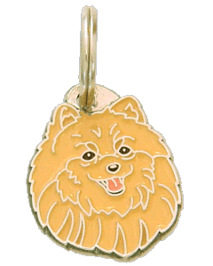 POMERANIAN APRICOT - pet ID tag, dog ID tags, pet tags, personalized pet tags MjavHov - engraved pet tags online
