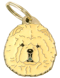 CHOW CHOW CREAM - pet ID tag, dog ID tags, pet tags, personalized pet tags MjavHov - engraved pet tags online