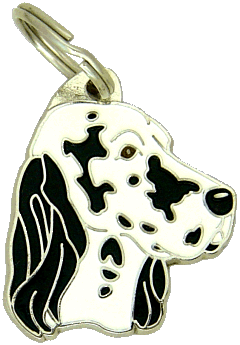 ENGLISH SETTER BLUE BELTON - pet ID tag, dog ID tags, pet tags, personalized pet tags MjavHov - engraved pet tags online