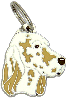 ENGLISH SETTER LEMON BELTON - pet ID tag, dog ID tags, pet tags, personalized pet tags MjavHov - engraved pet tags online