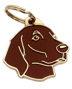 FLAT-COATED RETRIEVER BROWN - pet ID tag, dog ID tags, pet tags, personalized pet tags MjavHov - engraved pet tags online