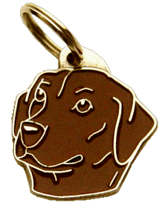 LABRADOR RETRIEVER BROWN - pet ID tag, dog ID tags, pet tags, personalized pet tags MjavHov - engraved pet tags online