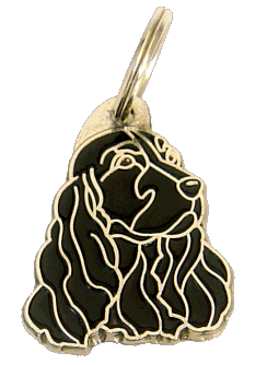 COCKER BLACK - pet ID tag, dog ID tags, pet tags, personalized pet tags MjavHov - engraved pet tags online