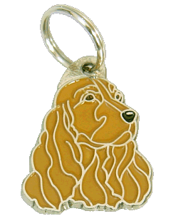 COCKER BROWN - pet ID tag, dog ID tags, pet tags, personalized pet tags MjavHov - engraved pet tags online