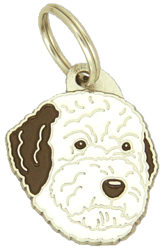 LAGOTTO ROMAGNOLO BROWN WHITE - pet ID tag, dog ID tags, pet tags, personalized pet tags MjavHov - engraved pet tags online