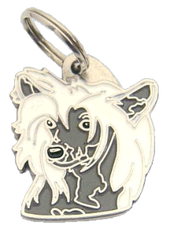 CHINESE CRESTED DOG WHITE GREY - pet ID tag, dog ID tags, pet tags, personalized pet tags MjavHov - engraved pet tags online