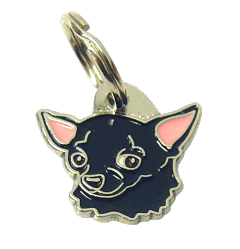 CHIHUAHUA BLACK - pet ID tag, dog ID tags, pet tags, personalized pet tags MjavHov - engraved pet tags online