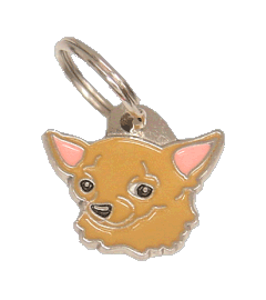 CHIHUAHUA BROWN - pet ID tag, dog ID tags, pet tags, personalized pet tags MjavHov - engraved pet tags online