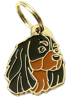 CAVALIER KING CHARLES SPANIEL BLACK & TAN - pet ID tag, dog ID tags, pet tags, personalized pet tags MjavHov - engraved pet tags online