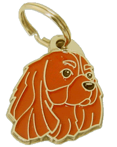 CAVALIER KING CHARLES SPANIEL RUBY - pet ID tag, dog ID tags, pet tags, personalized pet tags MjavHov - engraved pet tags online