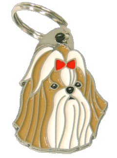 SHIH-TZU BROWN RED - pet ID tag, dog ID tags, pet tags, personalized pet tags MjavHov - engraved pet tags online