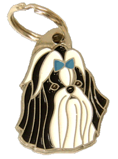 SHIH-TZU BLACK BLUE - pet ID tag, dog ID tags, pet tags, personalized pet tags MjavHov - engraved pet tags online