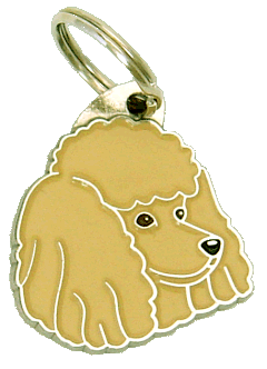 POODLE APRICOT - pet ID tag, dog ID tags, pet tags, personalized pet tags MjavHov - engraved pet tags online