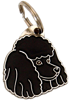 POODLE BLACK - pet ID tag, dog ID tags, pet tags, personalized pet tags MjavHov - engraved pet tags online