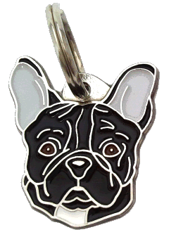 FRENCH BULLDOG BLACK - pet ID tag, dog ID tags, pet tags, personalized pet tags MjavHov - engraved pet tags online