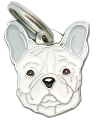 FRENCH BULLDOG WHITE - pet ID tag, dog ID tags, pet tags, personalized pet tags MjavHov - engraved pet tags online