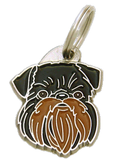 GRIFFON BELGE BLACK & TAN - pet ID tag, dog ID tags, pet tags, personalized pet tags MjavHov - engraved pet tags online
